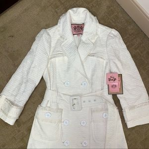 Juicy Couture Jackets & Coats - Juicy Couture Belted Dressy Fitted Trench Coat